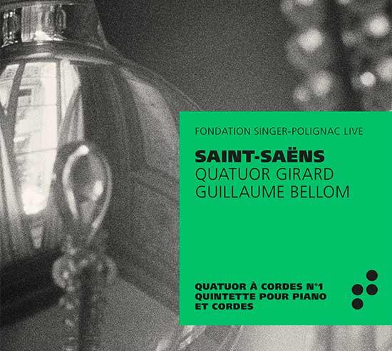 Pochette du disque Saint-Saens Quatuor Girard B Records